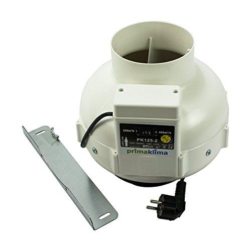 PK Rohrventilator 125AL, 220/360 m³/h, für 125/100 mm Rohr, Kunststoff