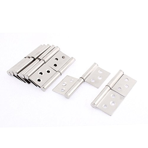 uxcell Lift Off Hinge, Stainless Steel Slip Joint Flag Hinges Cabinet Door, 3inch Length, 8pcs