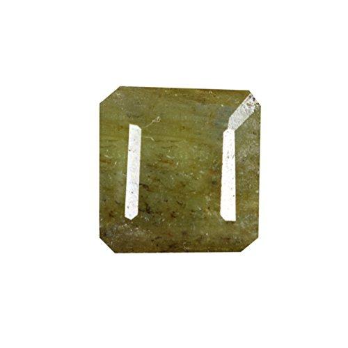 Gemhub 5.00 CT. Esmeralda Amarillo Verdoso Natural - 10 X 10 mm Egl Piedras Preciosas certificadas Nacimiento Mayo para el Anillo - Pedal DH-717