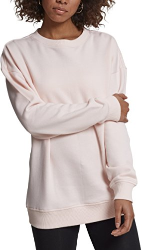 Urban Classics Damen Ladies Oversize Crewneck Pullover, Rosa (Pink 00185), Medium
