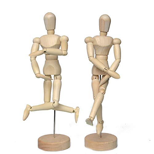 Artist Wooden Manikin Mannequin Sketching Lay Figure Drawing Model Aid Human Figure Artist Draw Painting Model Mannequin Jointed Doll for Art Drawing Human Figure