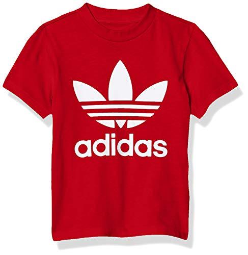 adidas Originals Baby Trefoil Tee, Scarlet/White, 18M