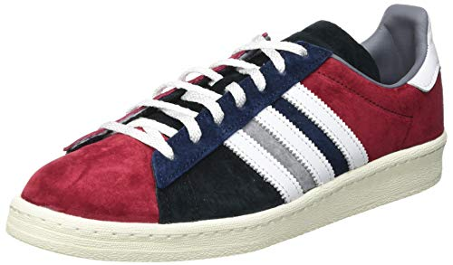 adidas Campus 80S, Sneaker Hombre, Collegiate Burgundy/Footwear White/Collegiate Navy, 48 EU