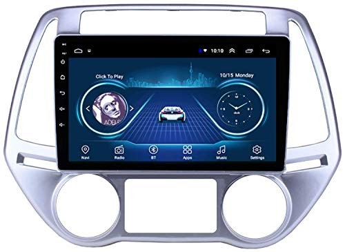In Dash Car Radio Estéreo Reproductor MP5 de 9.1 pulgadas Android 8.1 Compatible con HYUNDAI I20 (2012-2014), Pantalla táctil GPS 2.5D, BT, Wifi, Mirror Link, Sintonizador de radio (RAM 1G + R