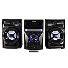 KEY FEATURES: Tray loading CD player, total 30W RMS output (2 x 15W), programmable CD player, digital PLL FM stereo radio, decorative blue color lights, LED display, built-in USB port for audio playback, clock display, connects to any audio device vi...