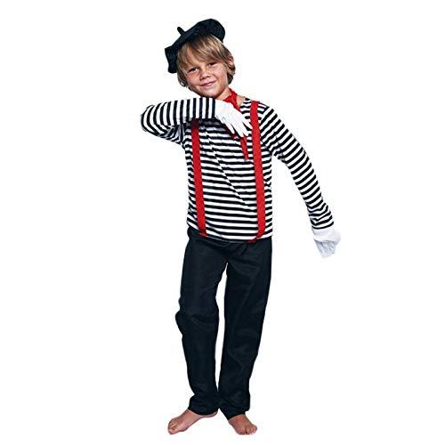 Disfraz Mimo Niño (7-9 años) (+ Tallas) Carnaval Profesiones ...