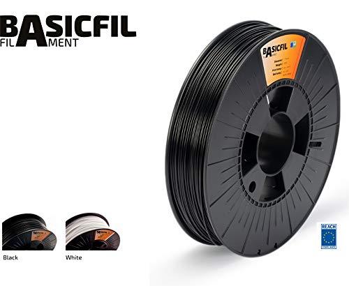 BASICFIL ABS 1.75mm, 500 gr filamento de impresión 3D, Negro