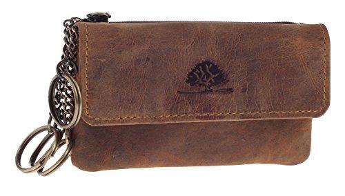 Greenburry Vintage 1623-25 Leder Schlüsseletui Schlüsseltasche Münz-, Geldschein- und Kartenfach
