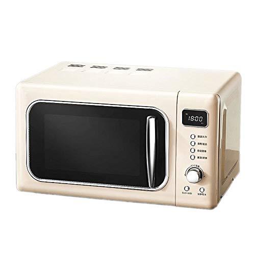 DAETNG Solo-Mikrowelle mit 5 Leistungsstufen, Garzeit-Temperaturregelung mit Drehrad-Abtaueinstellungen, LED-Anzeige, 24-Stunden-Termin, Sahne, Grill