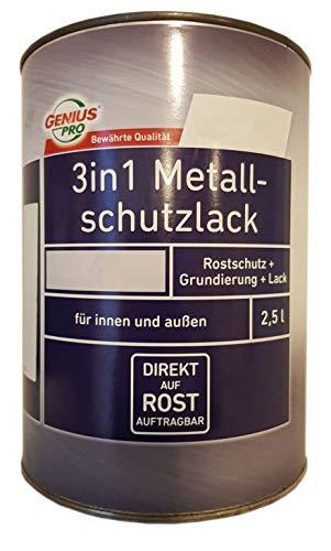 Genius Pro 3in1 Metallschutzlack Glänzend 2,5 Liter Weiß
