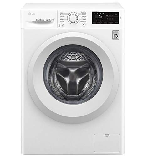 Lavadora LG F4J5TY3W 8kg, Inverter Direct Drive, Vapor- Steam, Smart