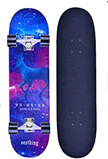 Mopoq First type professional skateboard beginner adult four-wheeled double tilt boys and girls children's scooter (Color ...
