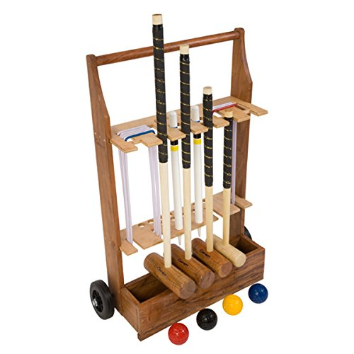 Uber Family Croquet Set with a stand