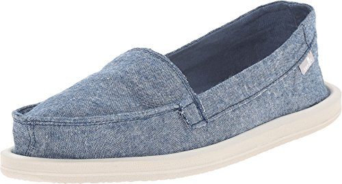 Sanuk Women's SHORTY TX Flat, Slate Blue Chambray, 8 M US