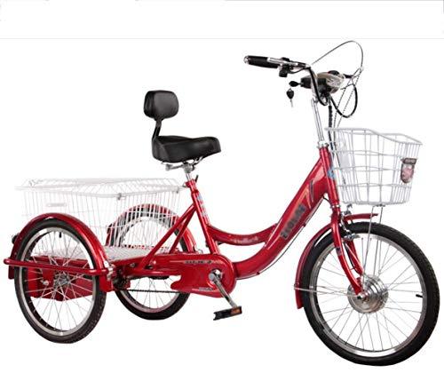 Triciclo Eléctrico Para Adultos Bicicleta Ciclomotor De 3 Ruedas Scooter De Mediana...