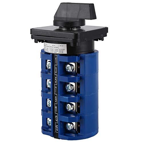 Yaootely AC 660V 63A 3 posicione 4NO+4NO Interruptor de cambio de leva de selector giratoria