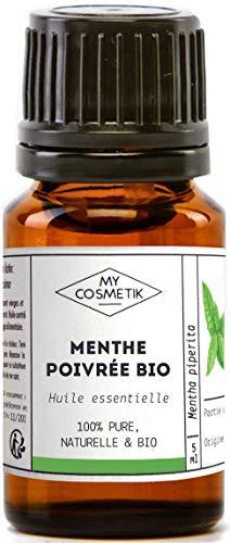 Huile Essentielle de Menthe Poivrée Bio AB - 100% pure et naturelle HEBBD - MyCosmetik - 30 ml