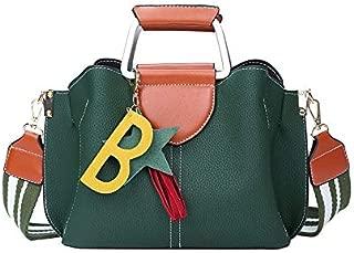 JAUROUXIYUJI Autumn and Winter New Fringed Handbags Fashion Ladies Shoulder Bag Trend Wild Simple Messenger Bag Handbag (Color : Green, Size : 21 * 26 * 12CM)