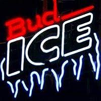 ネオンサイン、『Bud Ice 』NEON SIGN 、ディスプレイ サインボード、ギフト、 省エネ、バー、カフェ、喫茶店、広告用看板、クラブ及び娯楽場所等 インテリア 16 *14インチ ME114