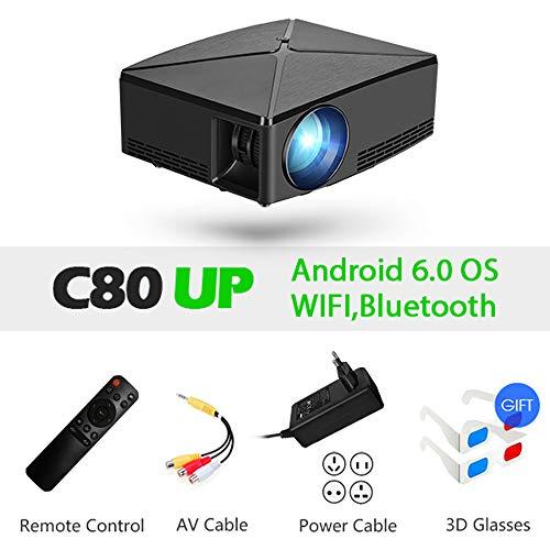 JSX Mini-beamer, draagbaar, full HD, resolutie 1280 x 720/Android-apparaten, wifi/HDMI, USB, TF, voor games, winkels en onderwijs