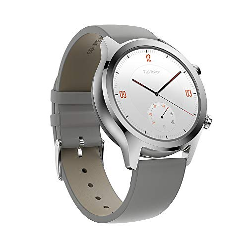 Ticwatch C2, Wear OS Smartwatch for Women with Build-in GPS, Waterproof, NFC Payment, for iOS and Android (Platinum)