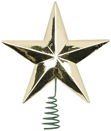 Darice Star Tree Topper - Medium - Gold - 2 inches
