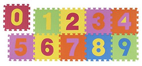 Andiamo 711822 Puzzleteppich Kinderteppich Teppichset Lernteppich Puzzleteppich, Kunstsoff, Multi, 30 x 30 x 1 cm