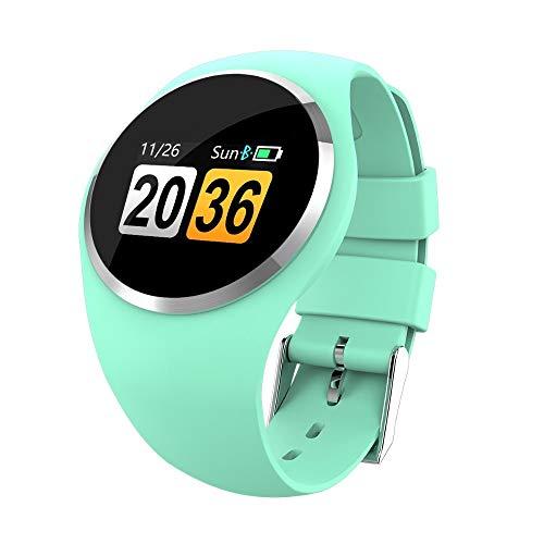 Reloj inteligente verde para mujer, monitor de frecuencia cardiaca, presión arterial, fitness, Bluetooth, podómetro, táctil inteligente, reloj deportivo para mujer