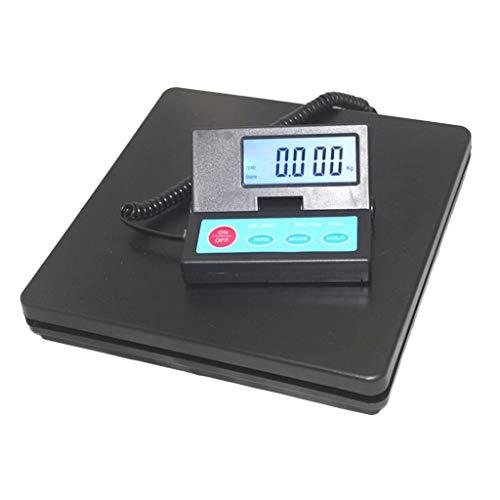 RUJIXU Báscula postal de alta precisión, diseño delgado con pantalla LCD retroiluminada, función de tara fácil de usar (color: negro, tamaño: 50 kg/2 g)