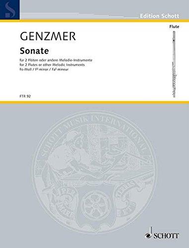 Sonate fis-Moll: GeWV 266. 2 Flöten oder andere Melodie-Instrumente. Spielpartitur. (Edition Schott)