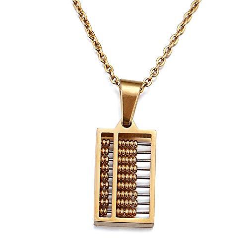 GLJIJID Se Puede Usar para marcar el Colgante de ábaco, Oro de 18 Quilates electrochapado y un Exquisito Collar para Hombre de Oro.