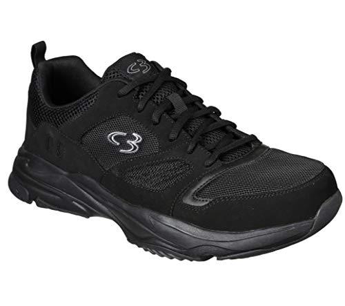 Concept 3 by Skechers Men's Wide Width Robey Sneaker, Black, 10.5 US