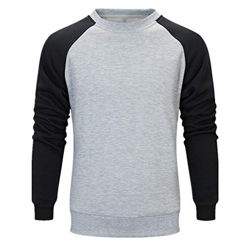 Zytyeu Sportswear - Conjunto de sudadera y pantalón de chándal para hombre, 2 piezas y pantalones modernos, con cordón, ropa deportiva, gimnasio y running .G-gray XXL