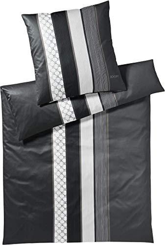Joop! Bettwäsche Cornflower Stripes l Größe 40x80 135x200 cm l Farbe 99 Deep Stone l Reine Baumwolle
