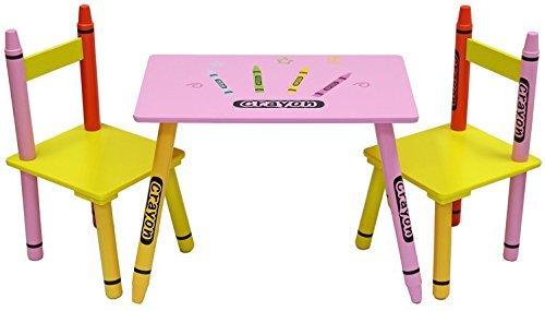 Kiddi Style Kindersitzgruppe – 1x Kindertisch & 2x Kinderstuhl – stylische Sitzgruppe & Kindersitzgruppe mit Tisch & Stühlen für Kinder
