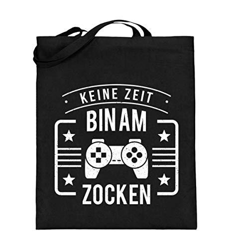 Perfekt für Gaming und Zock Freunde - Jutebeutel (mit langen Henkeln)