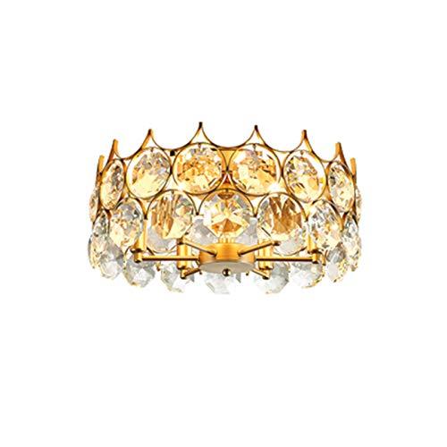 ADSIKOOJF Cristal Lámpara De Araña 6-Luces Moderno Flush Moun Lámpara De Techo Iluminación H20