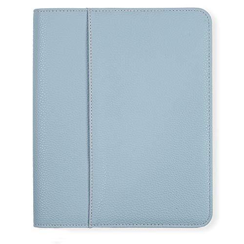 Boxclever Press Luxus A5 Buchhülle. Hochwertiger genarbter Buchumschlag mit Reißverschluss und Taschen für Notizen. Geeignet für Kalender 2020 2021 und Terminplaner im A5-Format (Graublau)