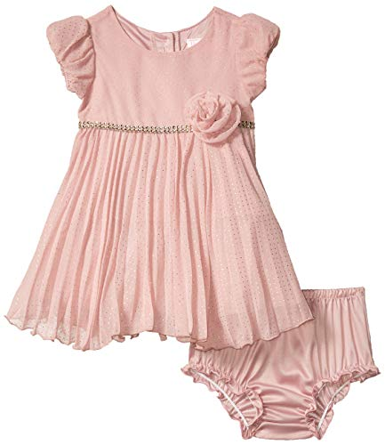 Youngland Baby Girls Special Occasion Holiday Dress, Pink, 12M