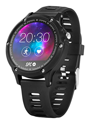 "SPC Smartee Sport Smartwatch de 1.22"" (Bluetooth 4.0 BLE, GPS), Juventud Unisex, Negro"