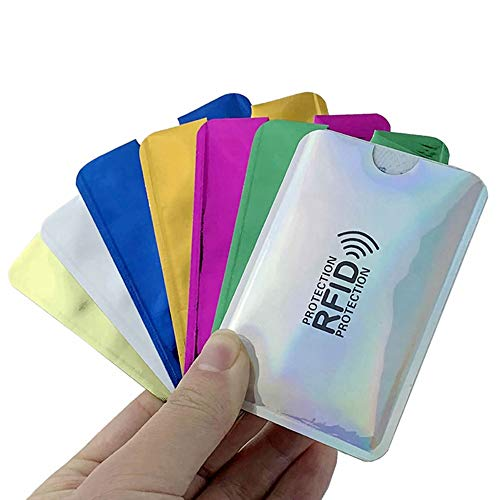 Kingsie スキミング防止 カードケース 10枚セット RFID 磁気スキミング防止 磁気防止 カードカバー 薄型 防水 データ保護 (マルチカラー)