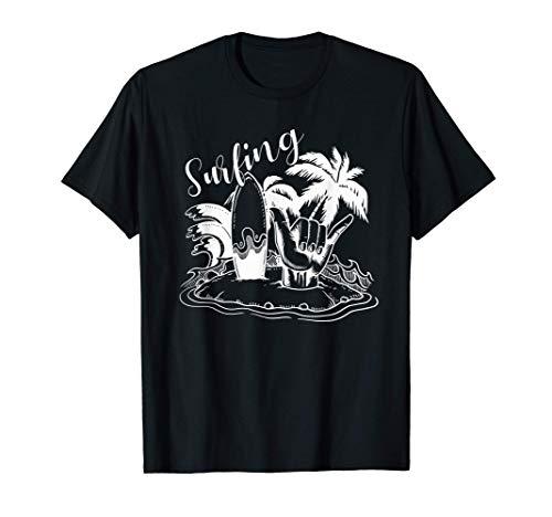 Colgar Isla Suelta Playa Surf Fresco Vibes Camiseta