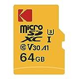 KODAK Tarjeta de memoria microSD 64 G Ultra Performance Clase 10 UHS-1...