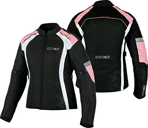 MBSmoto MJ24 Chaqueta moto moto para mujer Touring Chaqueta textil impermeable a prueba de viento (rosa bebé, 5XL)