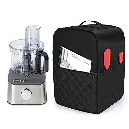 Luxja Küchenmaschine Abdeckhaube mit Griff, Staubschutzhülle für Food Processor und Rührmaschine Zubehör, Schutzhaube für Standmixer, Elektrische Reibe, 2,1-3 L Küchenmaschine, Schwarz