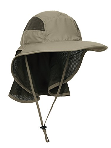 Unisex Gorra de Safari con Extra Largo Protector de Nuca 12cm Gran...