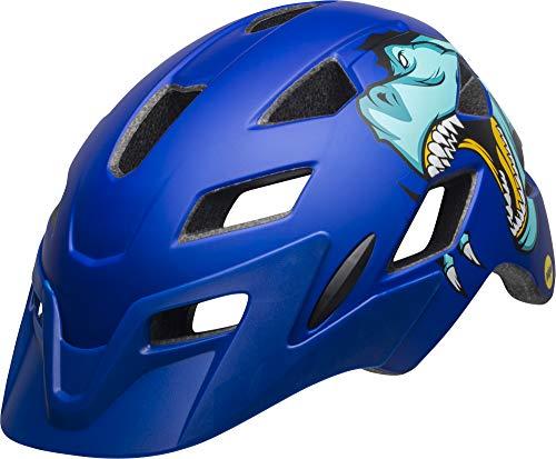 BELL Kids' Sidetrack Youth Cycling Helmet, T-Rex Matte Blue, 50-57 cm