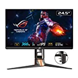 ASUS ROG Swift 360Hz PG259QNR 62,23 cm (24,5 Zoll) Gaming Monitor (Full HD, Fast IPS, Nvidia G-Sync, HDMI, DisplayPort, 1ms Reaktionszeit) schwarz