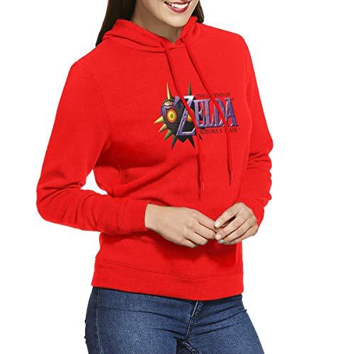 Trend World The Legend of Zelda Majora'S Mask Logo Sudadera con Capucha para Mujer, Rojo, XXL