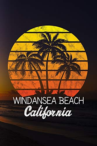 Windansea Beach California: 6x9 inch travel size 110 blank lined pages.